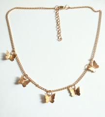 Ogrlica zlatni leptirici