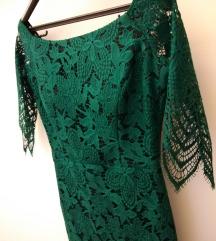 Zelena haljina od cipke