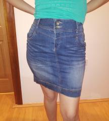 Duboka teksas suknja