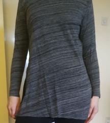 H&M bluza boje granita sa prorezima