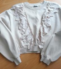 Zara duks krem i pantalone prljavo roze