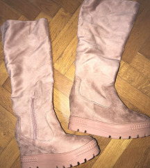 bebi roze cizme na platformu