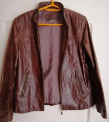 Muska braon kozna jakna vel 42