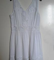 RESORT bela pamucna haljina boho style
