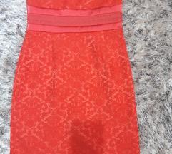 Svecana uska koralno crvena haljina