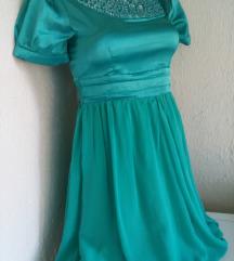 Tirkizna svecana haljina S