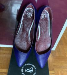 Ravne kožne cipele Doppio Elle