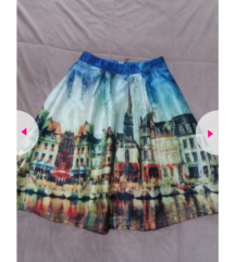 Prelepa suknja sa printom - sniženo 700
