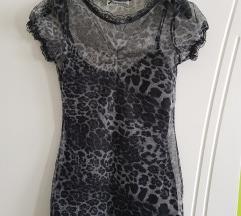 Crna animal print majica 36 vel