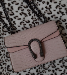 Roze cvrsta krok torbica