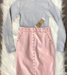 Puder roza Vinyl High Waist suknja NOVA sa et.