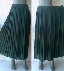 suknja plisirana duža broj 50 do 52 APART