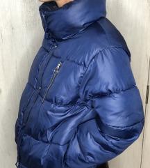 Plava puf jakna