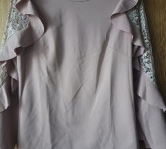 Bluza puder roze M