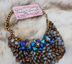 Braon-plava ogrlica