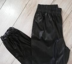 ZARA kožne vrećaste pantalone