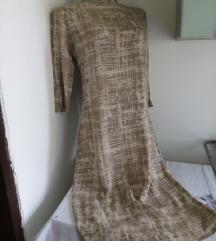 Krem braon poslovna haljina M