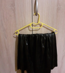 SNIZENJE kozna crna suknja