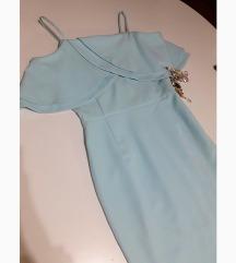 Lana Griss elegantna, plava haljina💎