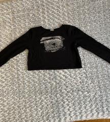 Zara crna majica crop top