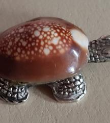 Vintage srebrni privezak, poludragi kamen