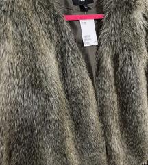 H&M nov bunda sa etiketom vestacko krzno