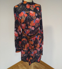 RASPRODAJA Nova teget cvetna haljina