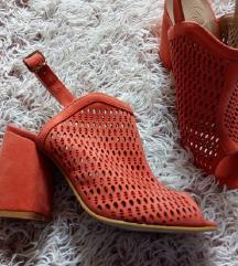 ****SALE***NOVE pastelno oranz sandale