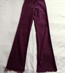 Ljubičaste ženske pantalone ravnih nogavica