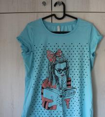 De Facto plava majica sa ilustracijom
