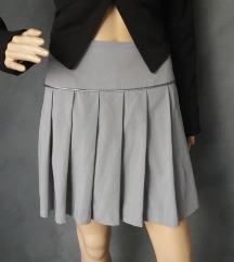 H&M siva plisirana suknjica