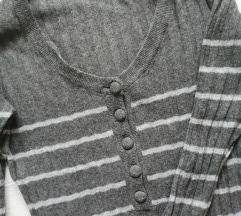 *SALE* Sivi prugasti džemper tunika, vel. S/M