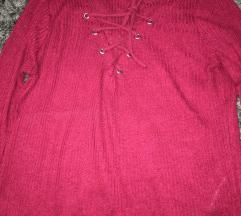 Bordo majica sa pertlom
