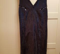 Tamno plava Mango sljokicasta haljina