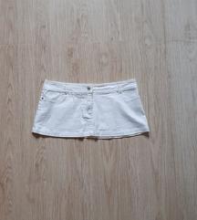 Bela teksas suknja