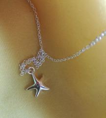 Ogrlica i privezak zvezda 925