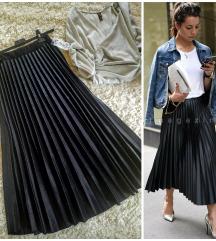 Svetlucava plisirana suknja, izuzetan model! Nova