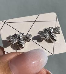 Minđuše pčelice sa cirkonima