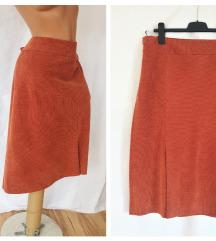 GERRY WEBER ★ terakota somot suknja ispod kolena