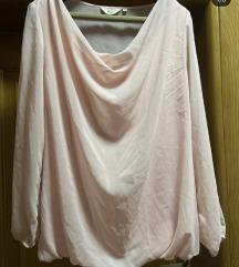 Nezno roze kosulja elegantna sa postavom