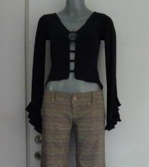 Asimetricna crop bluza/majica dugih rukava S/M