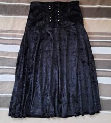 Luksuzna plisana suknja duga