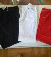 Tri para lanenih pantalona vel.S