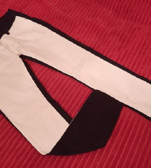 Crno bele pantalone NOVE