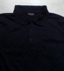 Crna muska bluza sa ranflom na rukavima
