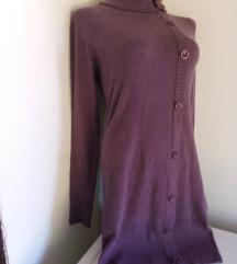 3rd ljubicasta haljina ukrasena dugmicima M