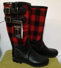 Alcott gumene Karirane cizme sa etiketom 36
