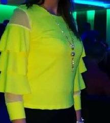 neon zuta svecana bluza