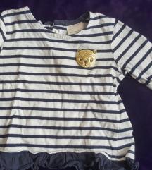 Preslatka Zara prugasta bluzica sa macom, 80-86