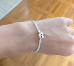 Srebrna narukvica charms kao Pandora - NOVO
